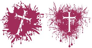 Crosses in spot. Illustration representing a crosses in spot, in two version Stock Photography