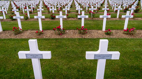Crosses in the Verdun cemetery in France. Crosses of people dead in WWI Stock Photography