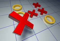 Crosses-zeros Stock Image