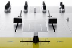 Crossfader of audio mixing controller Royalty Free Stock Photography