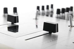 Crossfader of audio mixing controller Stock Image