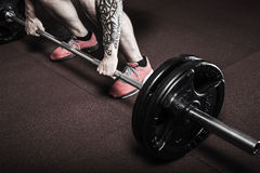 Crossfit deadlift. Excercise at the gym Stock Photography