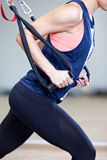 Crossfit fitness TRX training Royalty Free Stock Images