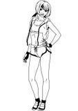 Crossfit flicka Arkivbild