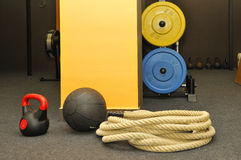 CrossFit. Functional - Fitness and CrossFit in a gym royalty free stock photography