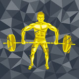 CrossFit 44. Geometric Crossfit concept. Deadlift push press. Vector silhouette of man doing fitness and crossfit. Active and healthy life concept Royalty Free Stock Photos