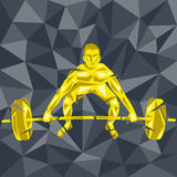 CrossFit 46. Geometric Crossfit concept. Deadlift push press. Vector silhouette of man doing fitness and crossfit. Active and healthy life concept Royalty Free Stock Photos