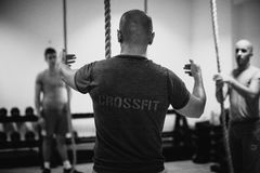 Crossfit group training Stock Image