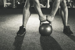 Crossfit kettlebell training Stock Photos
