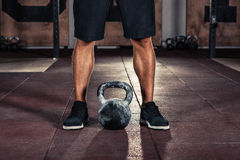 Crossfit kettlebell training royalty free stock images