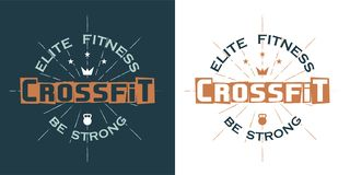 Crossfit-Logo stockfotos
