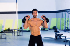 Crossfit man lifting kettlebell workout exercise Royalty Free Stock Photography