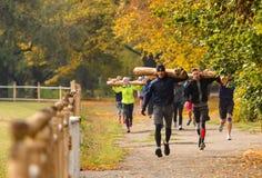 CrossFit s'exerçant extérieur Photo stock