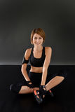 Crossfit woman in fitness outfit Stock Images
