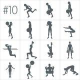 CrossFit Woman new Big Set Stock Images
