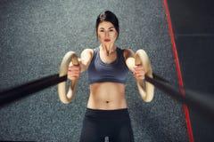 Crossfit workout στο δαχτυλίδι Στοκ Φωτογραφίες