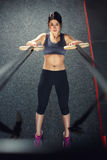 Crossfit workout on ring Stock Photography