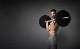 Crossfitter portrait during exercise Royalty Free Stock Photo