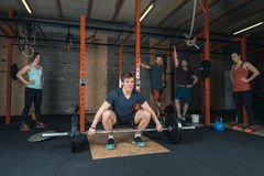 Crossfittrainer Group Royalty-vrije Stock Afbeelding