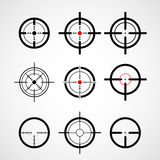 Crosshair (gun sight), target icons. Set Stock Image