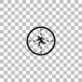 Crosshair icon flat royalty free illustration
