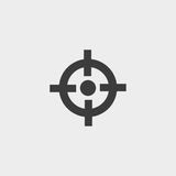 Crosshair icon in a flat design in black color. Vector illustration eps10 Stock Images