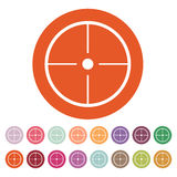 The crosshair icon. Search symbol. Flat Royalty Free Stock Image