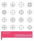 Crosshair icon set Stock Images