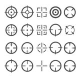 Crosshair Icon Set. Target Mouse Cursor Pointers. Vector Royalty Free Stock Photography