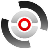 Crosshair icon, target symbol. Pinpoint, bullseye sign. Concentr Royalty Free Stock Image
