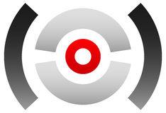 Crosshair icon, target symbol. Pinpoint, bullseye sign. Concentr Stock Photography