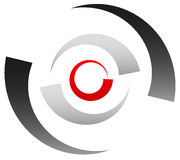 Crosshair icon, target symbol. Pinpoint, bullseye sign. Concentr Royalty Free Stock Images
