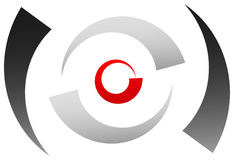 Crosshair icon, target symbol. Pinpoint, bullseye sign. Concentr Stock Photo