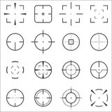Crosshair icons set Stock Images