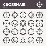 Crosshair icons set Stock Image