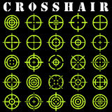 Crosshair.Icons set in vector Royalty Free Stock Images