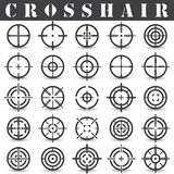Crosshair. Icons set in vector Stock Photos