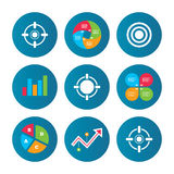 Crosshair icons. Target aim signs symbols. Stock Images