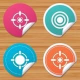 Crosshair icons. Target aim signs symbols. Stock Photos