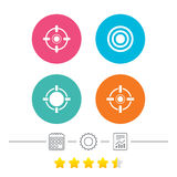 Crosshair icons. Target aim signs symbols. Royalty Free Stock Photography