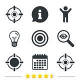Crosshair icons. Target aim signs symbols. Royalty Free Stock Image