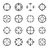 Set of crosshair icons on white background. royalty free stock photography