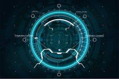 Crosshair nello stile futuristico Scopo del GUI illustrazione vettoriale