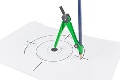 Crosshair on paper Royalty Free Stock Photos