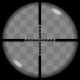Crosshair. Put your text or picture behind the crosshair, crosshair or reticle, used for precise alignment or for aiming with firearms Stock Photos