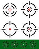 Crosshair, reticle, target mark set. 4 different cross-hairs. Vector illustration of crosshair, reticle, target mark set. Four different cross-hairs with red Stock Images