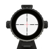 Crosshair. Riffle Scope with Red crosshair Isolated on White Background Royalty Free Stock Image