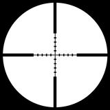 Crosshair sight. Put your text or picture behind the crosshair, crosshair or reticle, used for precise alignment or for aiming with firearms Royalty Free Stock Photo