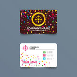 Crosshair sign icon. Target aim symbol. Royalty Free Stock Images