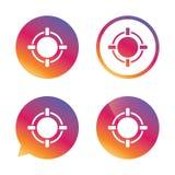 Crosshair sign icon. Target aim symbol. Royalty Free Stock Photos